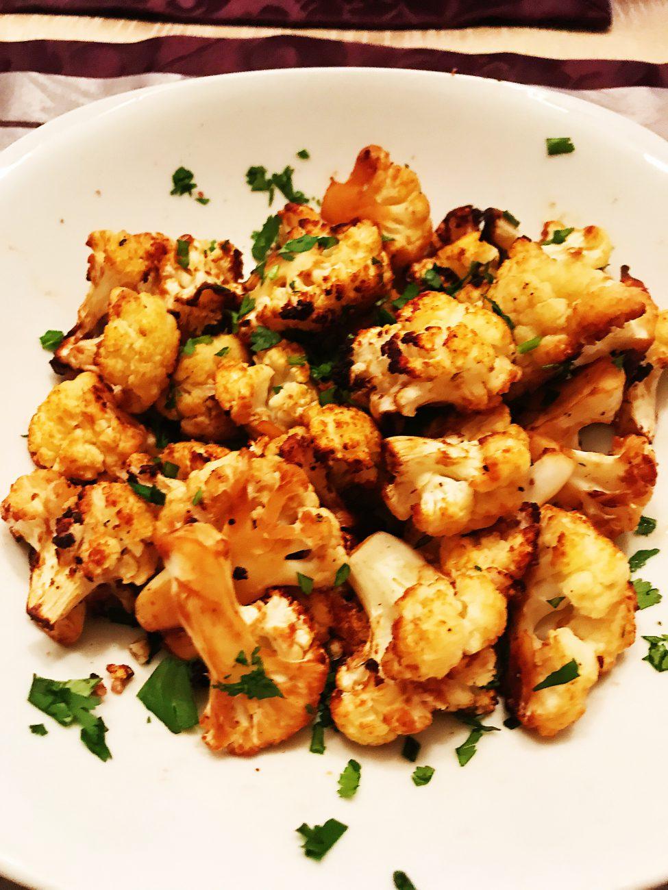 Roasted Miso Cauliflower