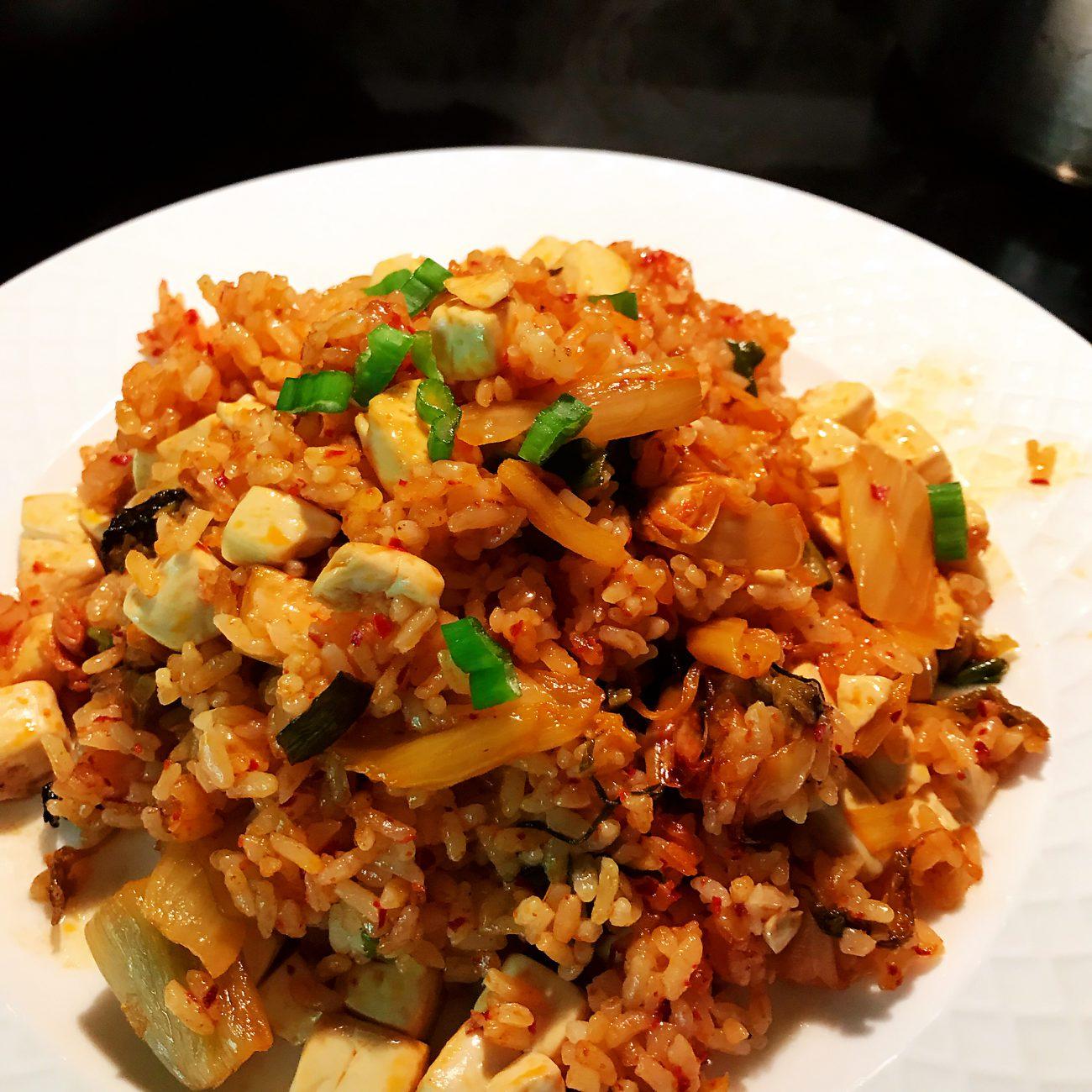 Kimchi Tofu Fry Rice