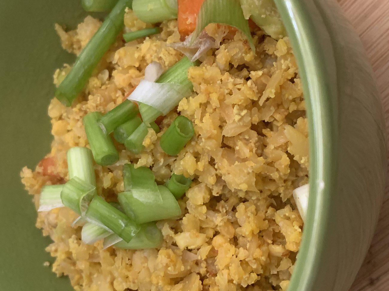 """Fried"" Cauliflower Rice"