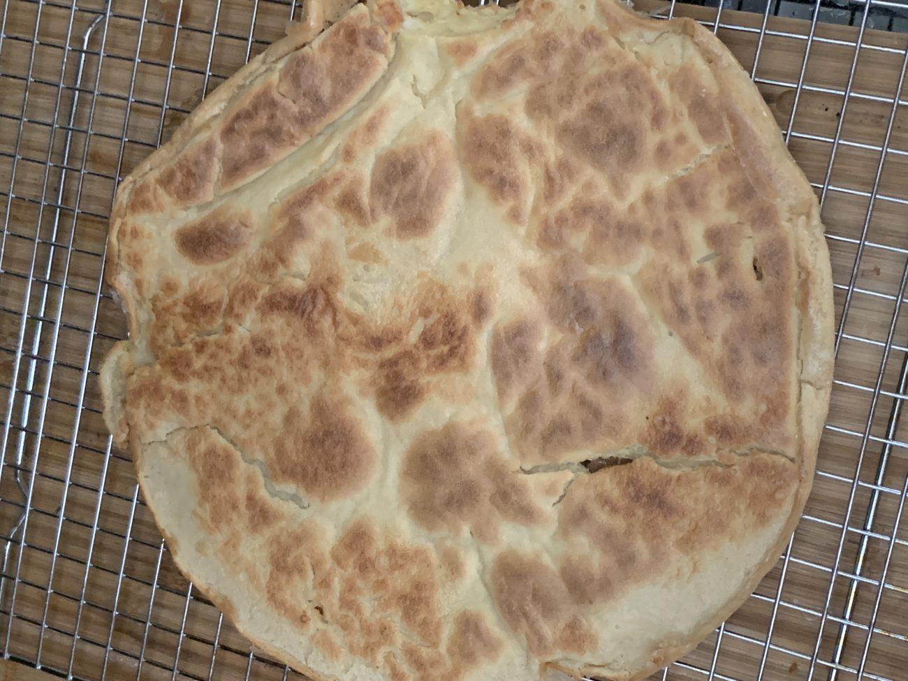 Socca Bread (chickpea flour, gluten-free flatbread)