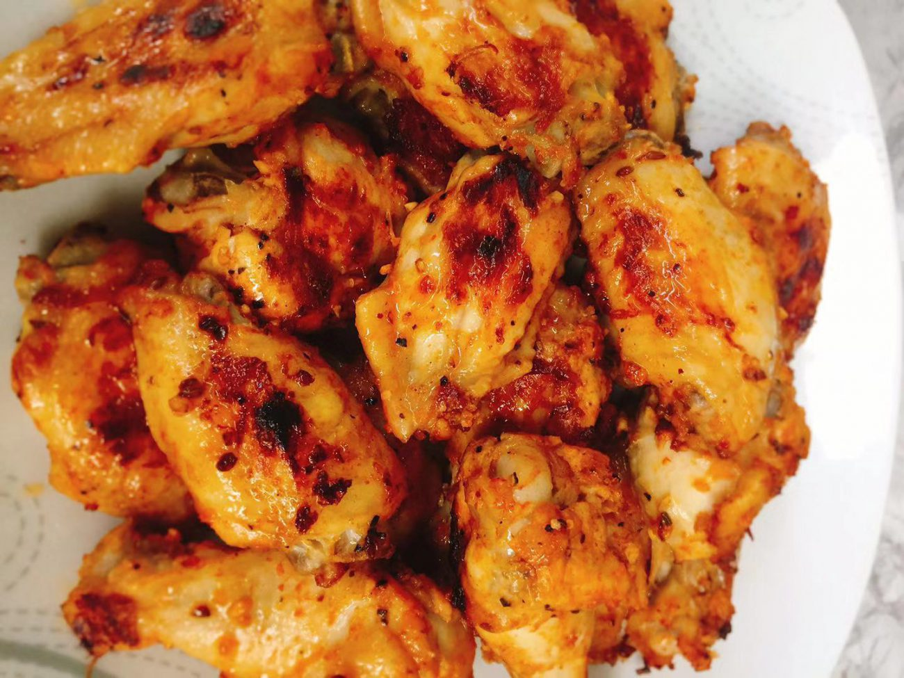 AirGO air fried 22 chicken wings in 19 minutes with crispy skin