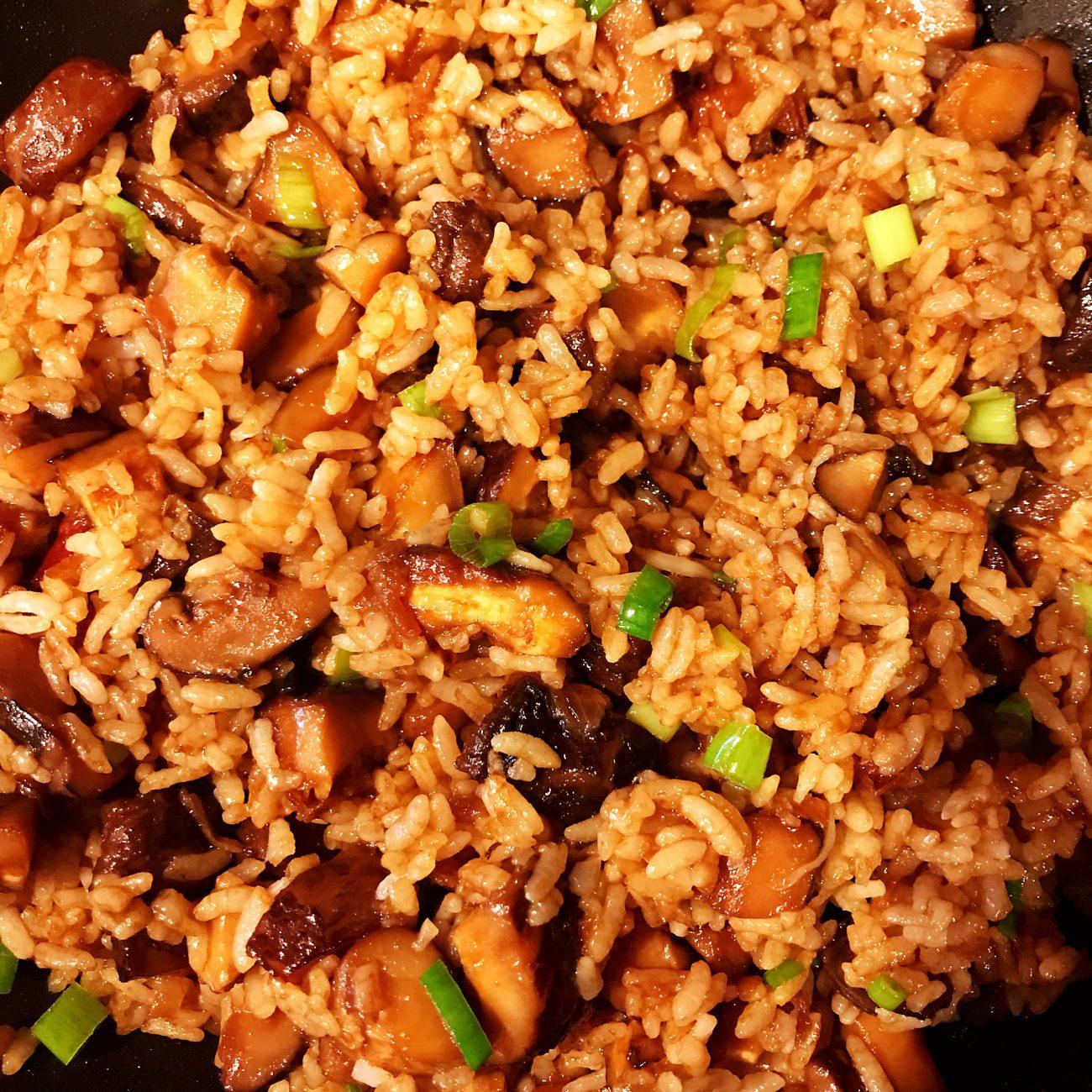 Shiitake mushroom fried rice