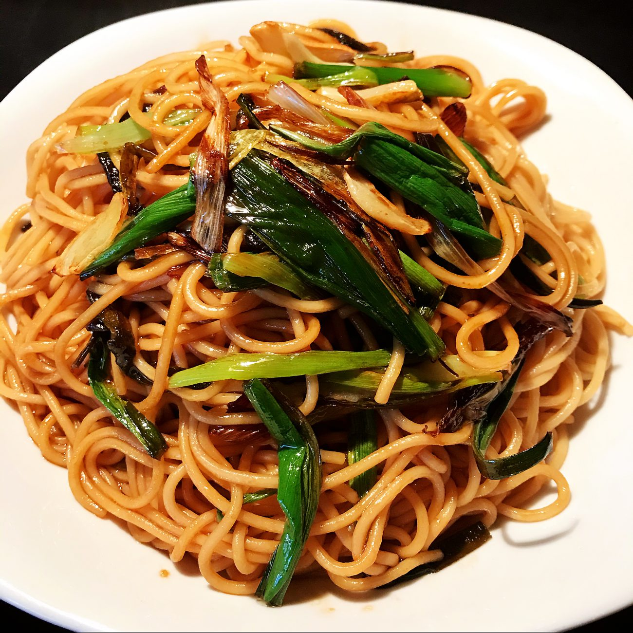 Scallion flavored noodles