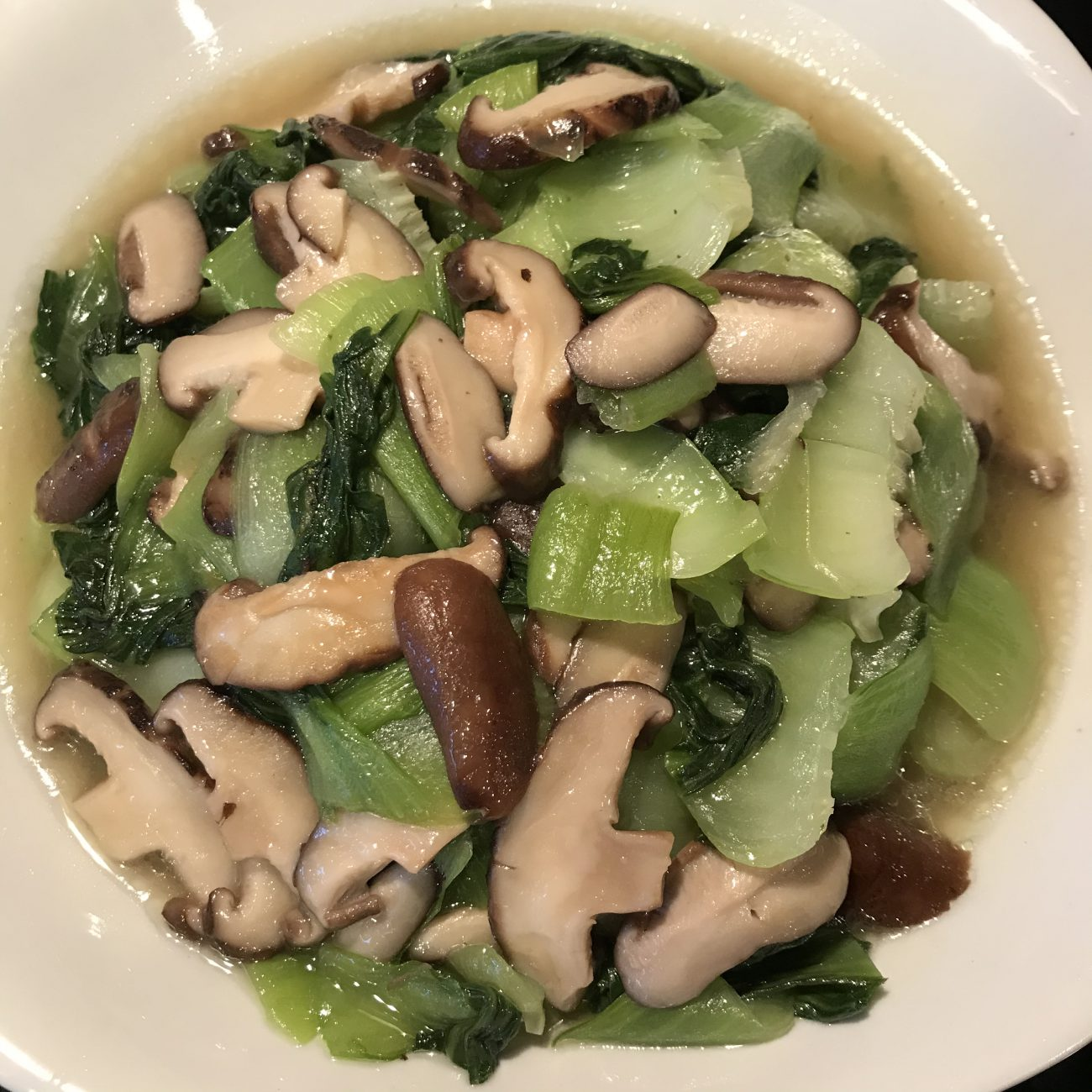 Grill Bokchoy with Shiitake mushrooms