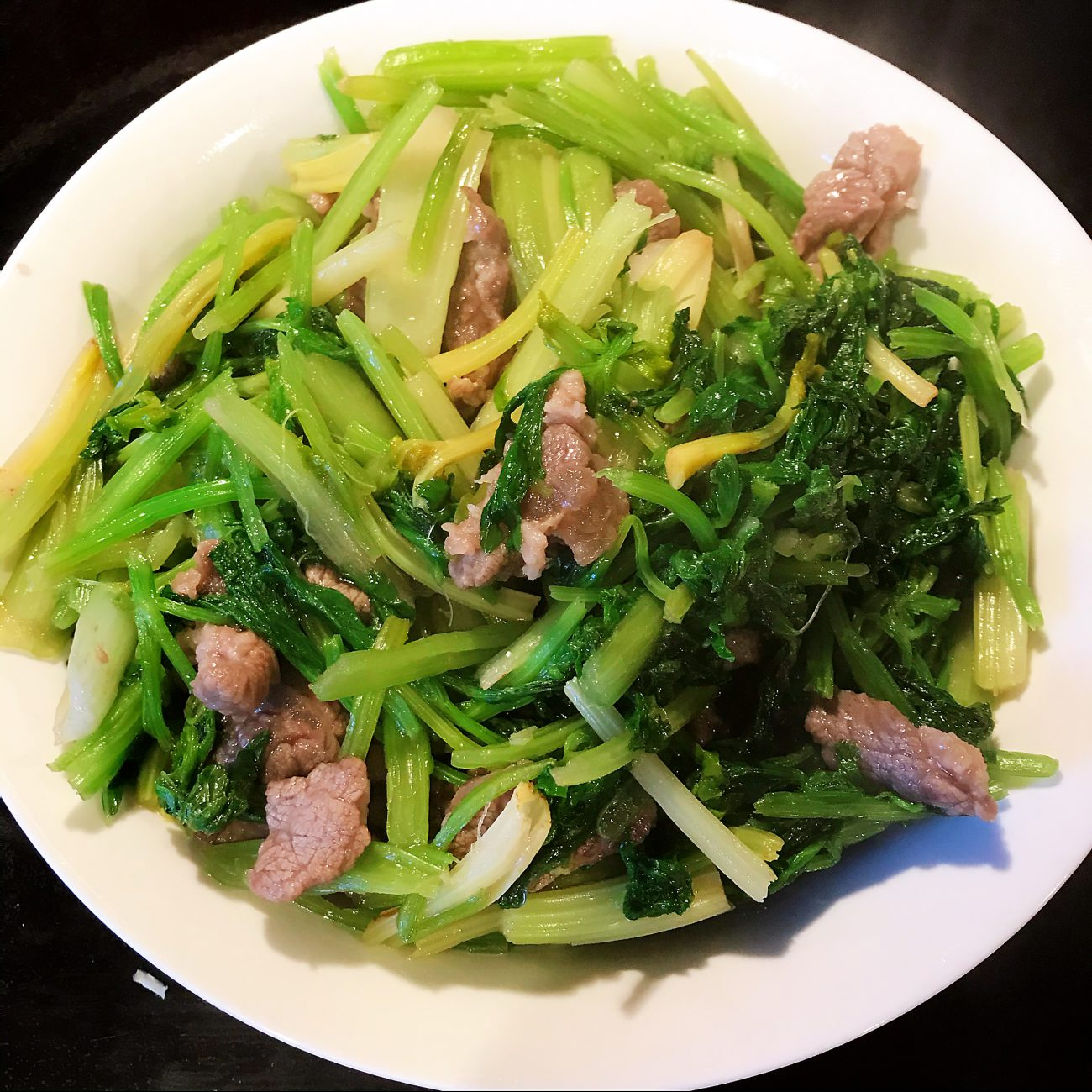 Beef Grilled Chinese Celery