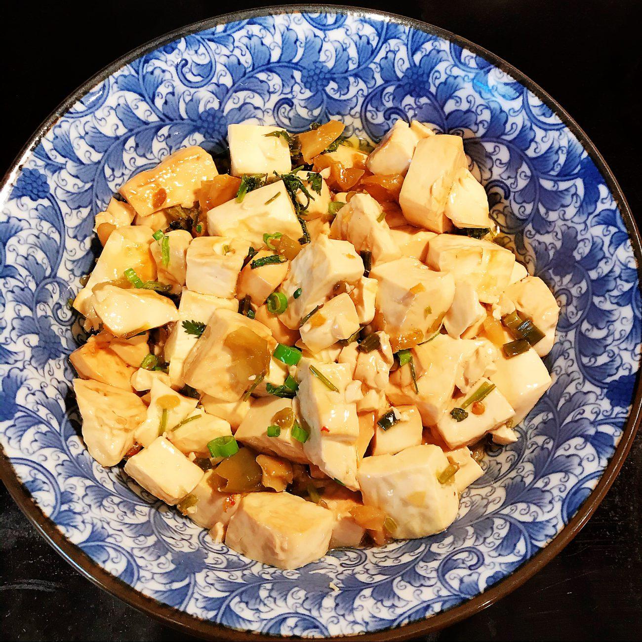 Cilantro grilled soft tofu