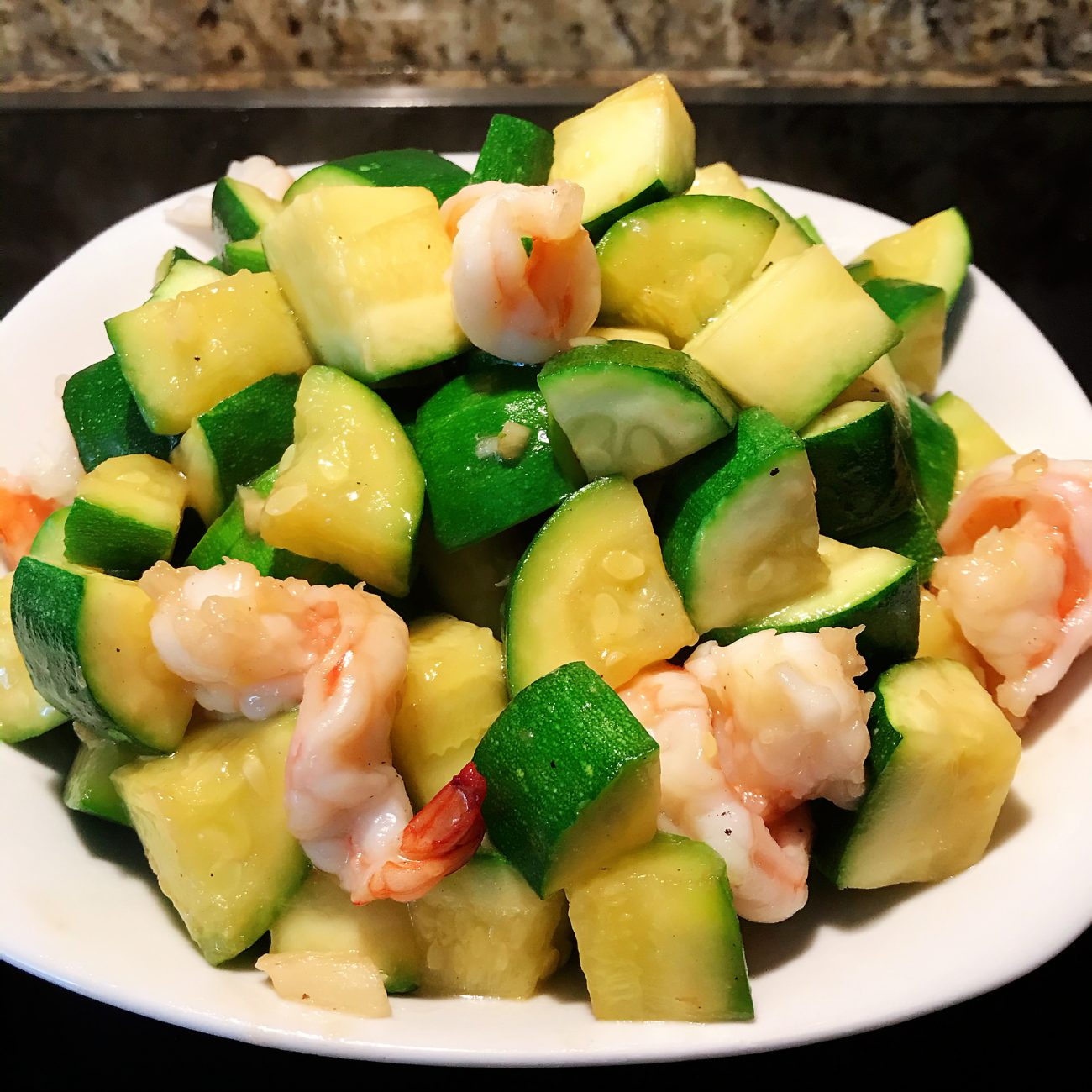 Zucchini grilled Shrimps
