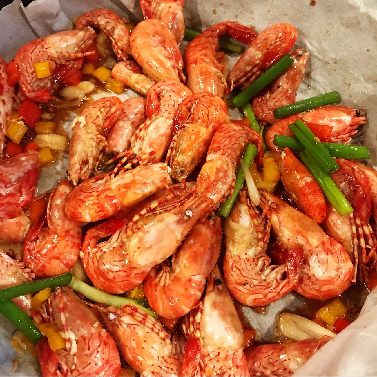 Hot-Spicy fresh shrimps