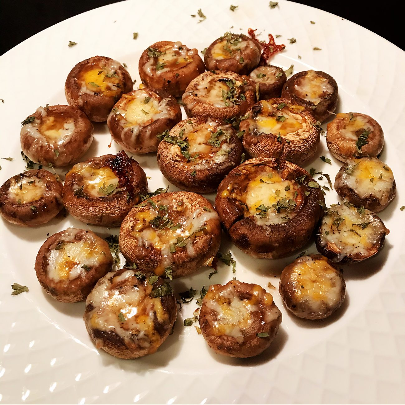 AirGO Grilled Mushrooms Stuffed with Cheese