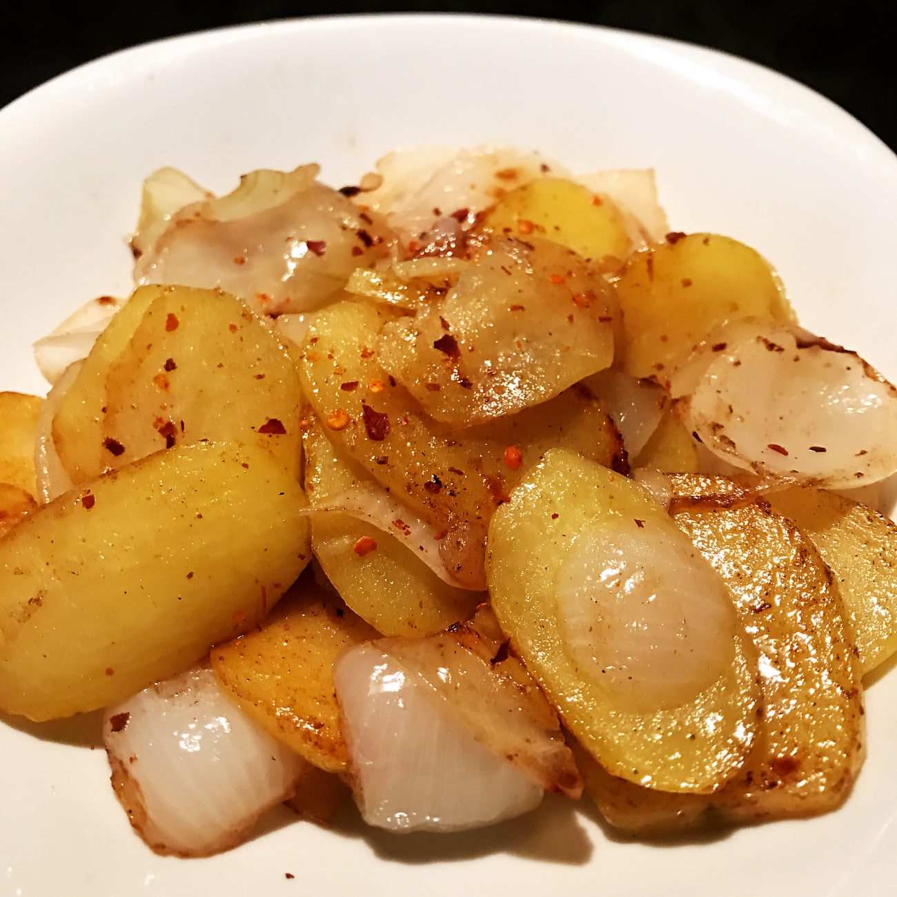 Cumin flavored Onions and Potatoes