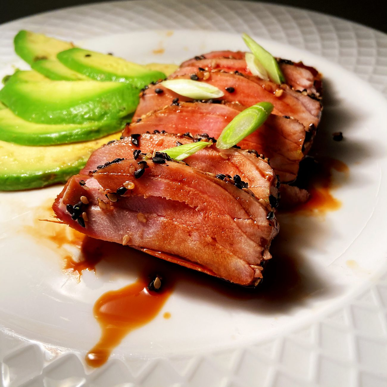 Teriyaki Tuna Steak with Avocado