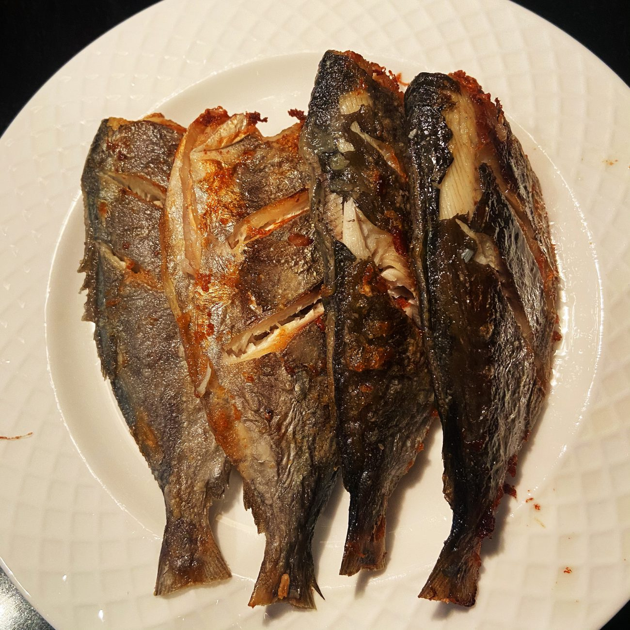 Airfry butterfish