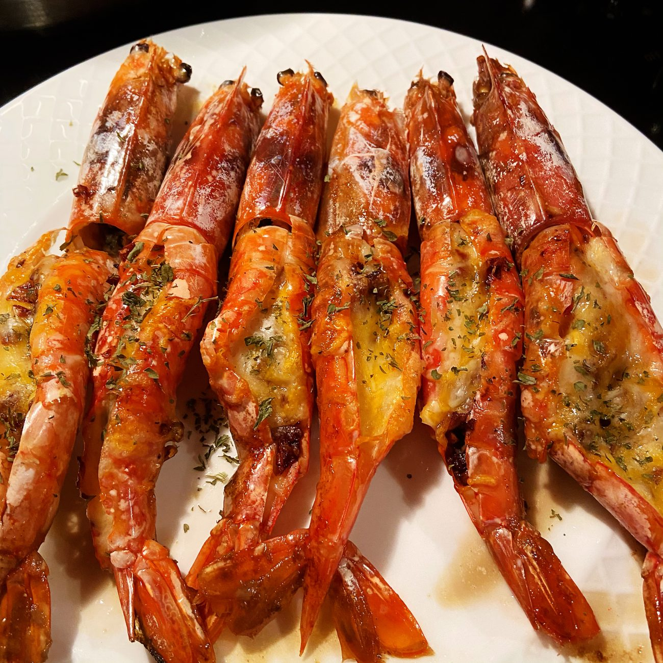Cheese Garlic Butter Baked Argentina Red Shrimp