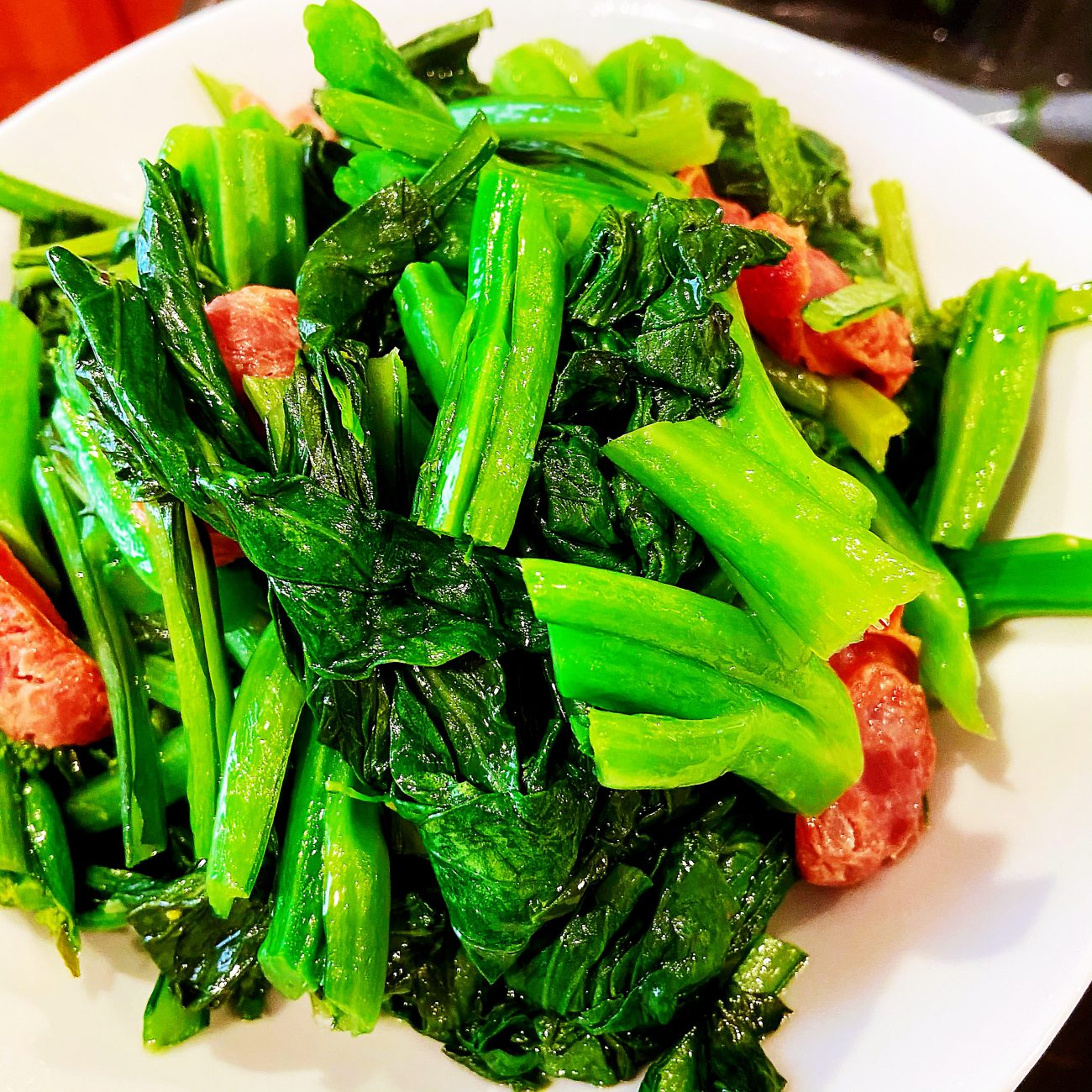 Chinese Style Sausage with Yuchoy