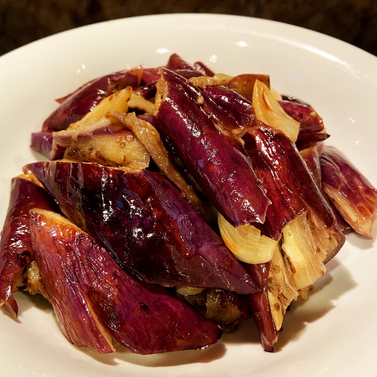 Garlic Grilled Chinese Eggplant