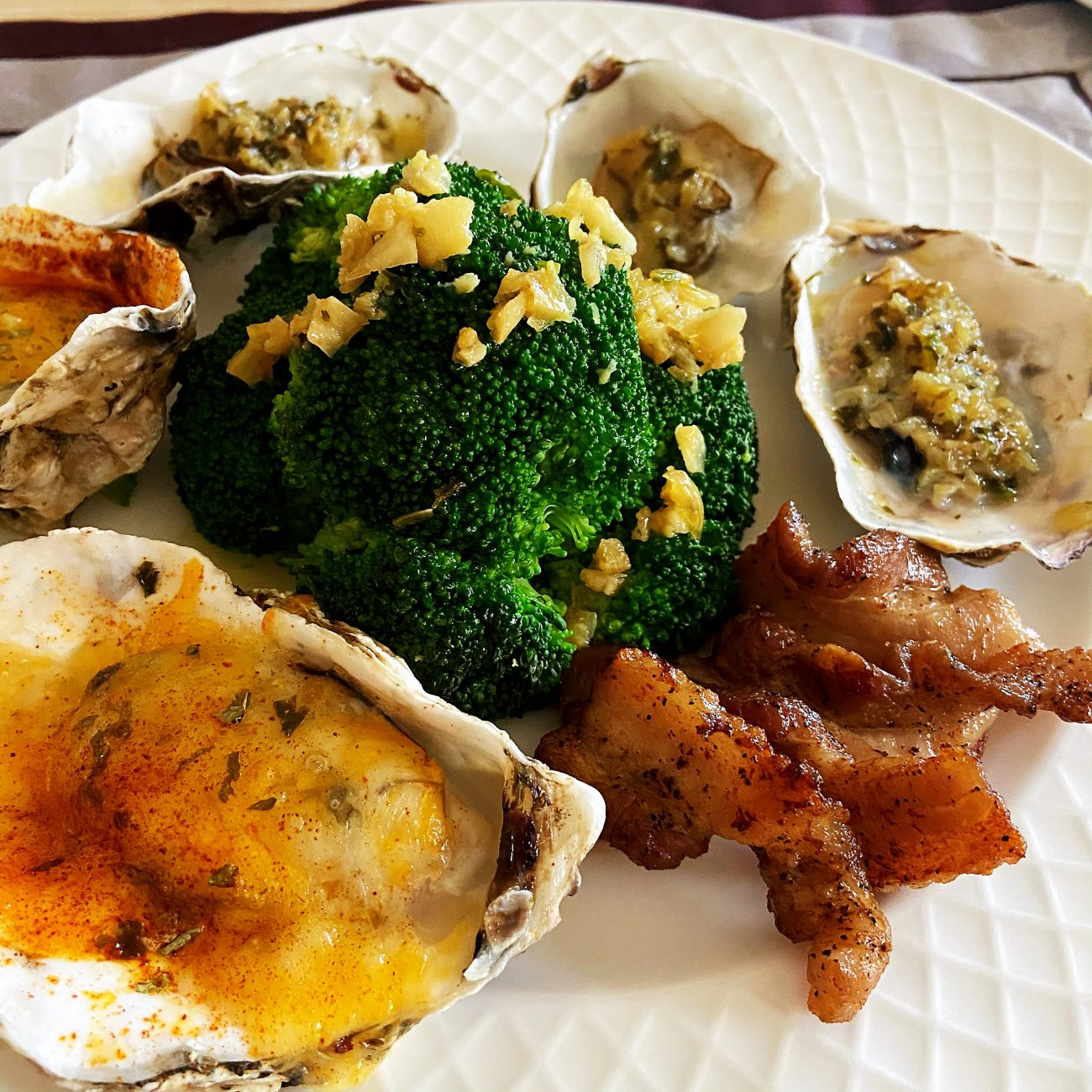 Grilled Garlic Butter Oyster