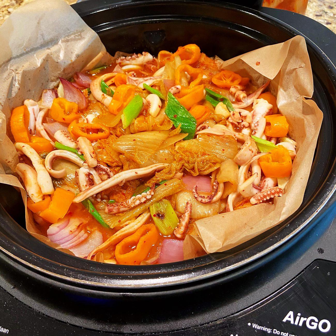 Sautéed Squid and Kimchi