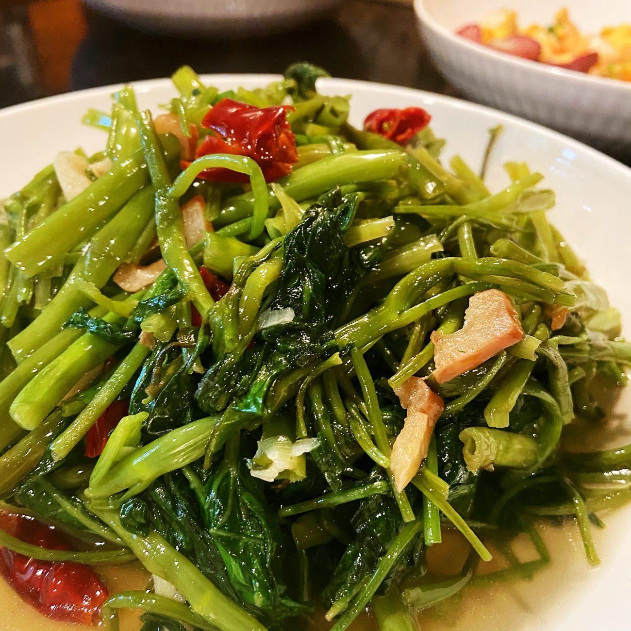 Ginger Garlic Water Spinach
