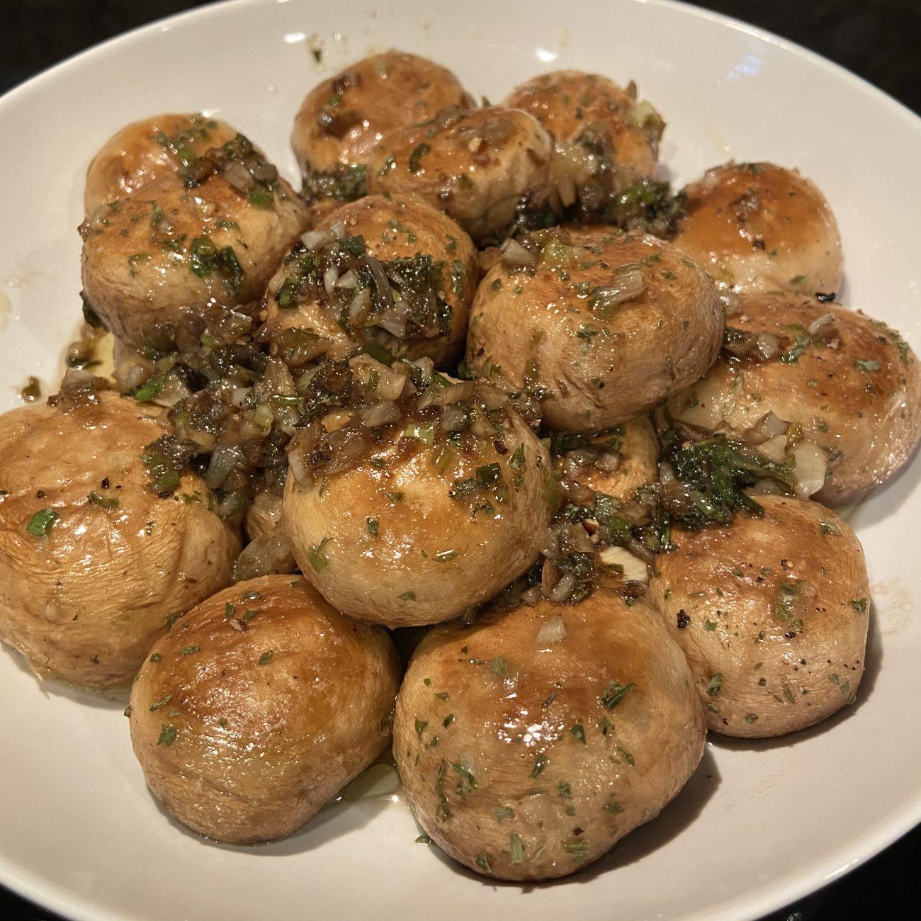 Scallion and Garlic baked Mushroom from Japanese TV show Kodoku No Gurume